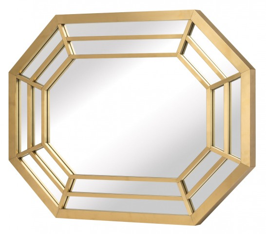 Octavia Gold Metal Wall Mirror