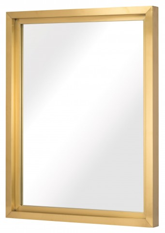 "Glam 48"" Gold Metal Wall Mirror"