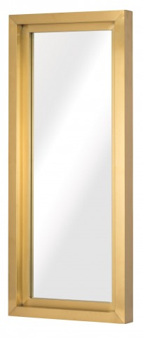 "Glam 24"" Gold Metal Wall Mirror"