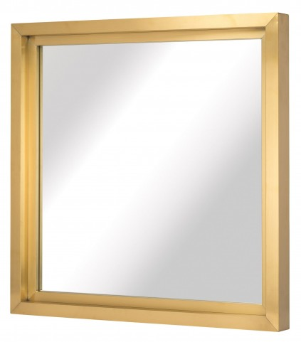 "Glam 36"" Gold Metal Wall Mirror"