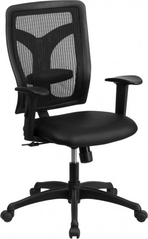 Galaxy High Back Designer Back Adjustable Leather Arm Task Chair