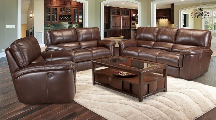 Hitchcock Cigar Dual Power Reclining Living Room Set