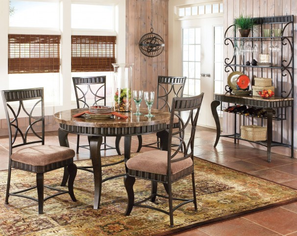 Hamlyn Spanish Brown Dining Room Set