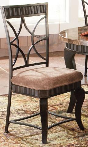 Hamlyn Pewter Bronzed Side Chair Set of 2