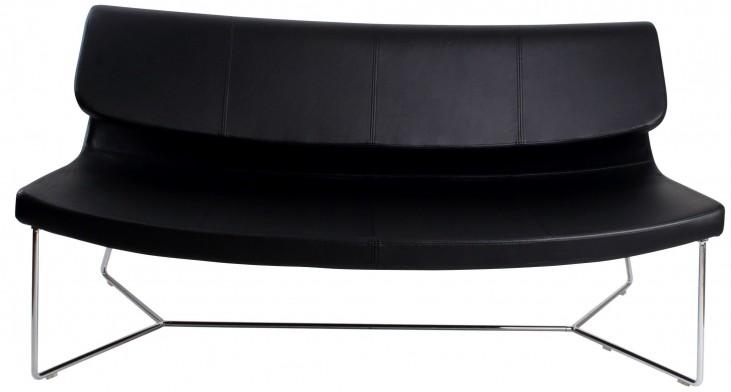 Hollywood Black Leatherette Sofa