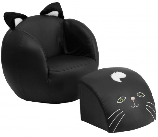 Kid Cat Chair and Footstool