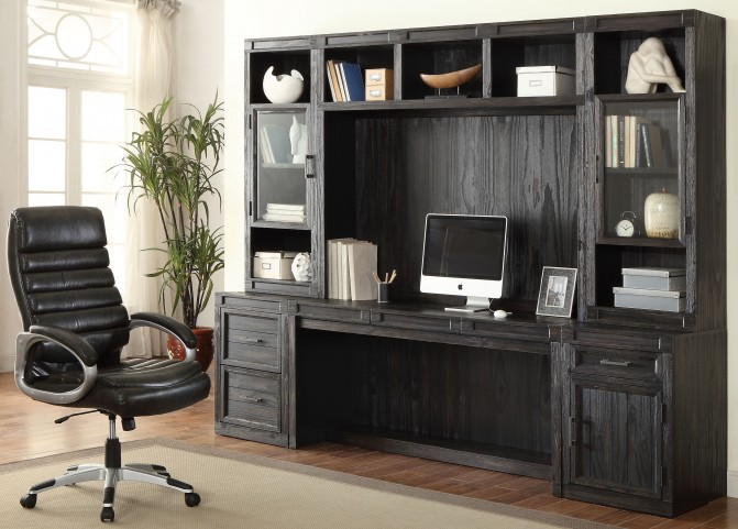 Hudson Vintage Midnight Desk Wall Unit