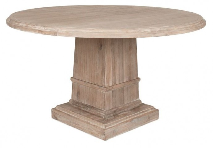 "Hudson Stone Wash 60"" Round Dining Table"