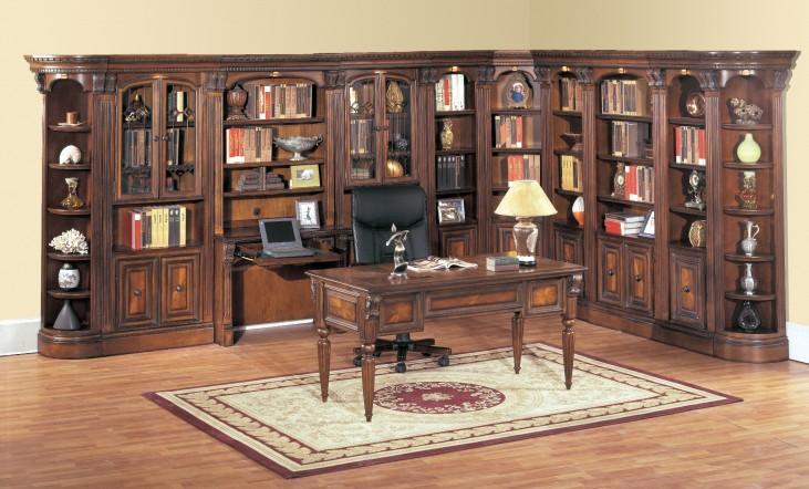 Huntington Large Library Desk Wall
