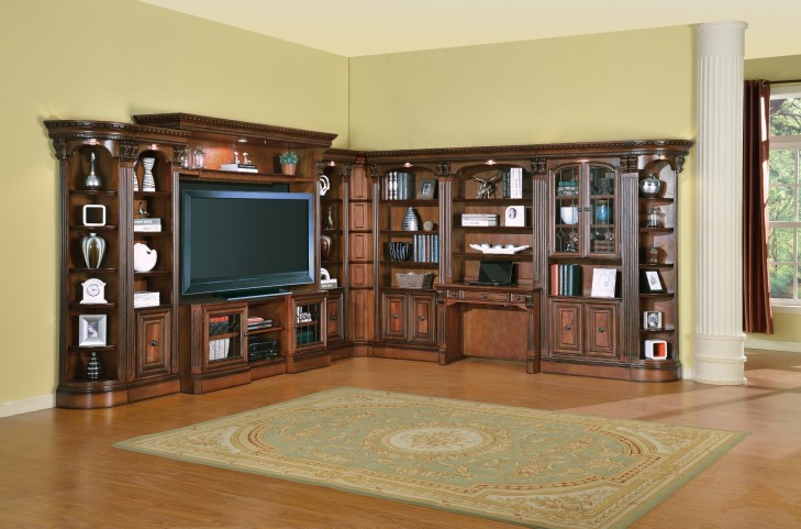 Huntington L Shape Entertainment Wall Unit
