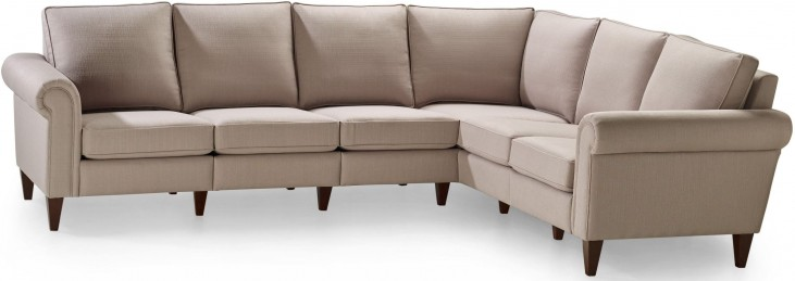 Avery Bisque Three Corner Two Sectional