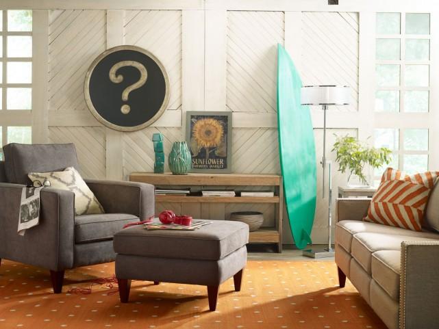 Parker Carbon Living Room Set