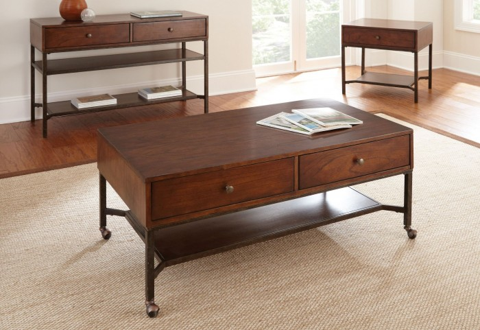 Hayden Medium Cherry Occasional Table Set