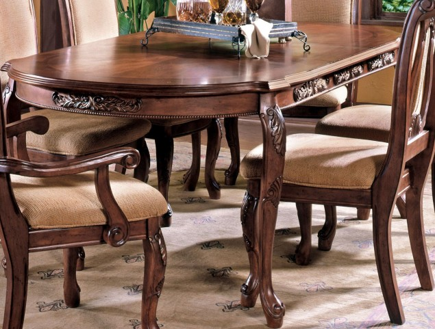 Harmony Medium Cherry Extendable Rectangular Dining Table