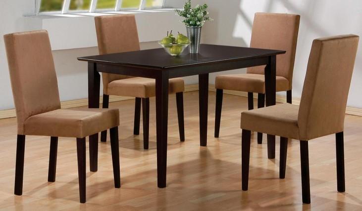 Mix & Match Rich Dark Cappuccino Rectangular Dining Room Set