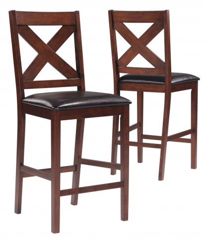 1146 Mocha Counter Height Chair Set of 2