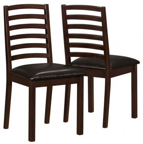 1149 Walnut / Brown Side Chair Set of 2