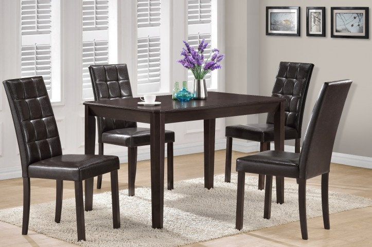 1170 Cappuccino Veneer Dining Room Set