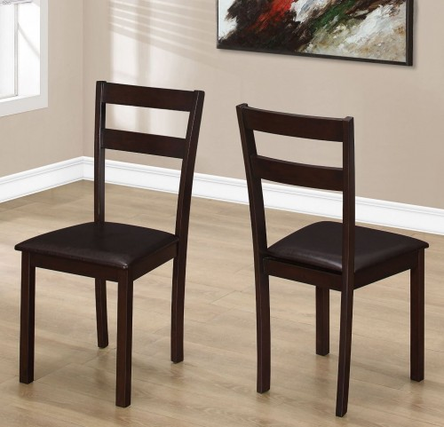 "Dark Brown 35"" Dining Chair Set of 2"