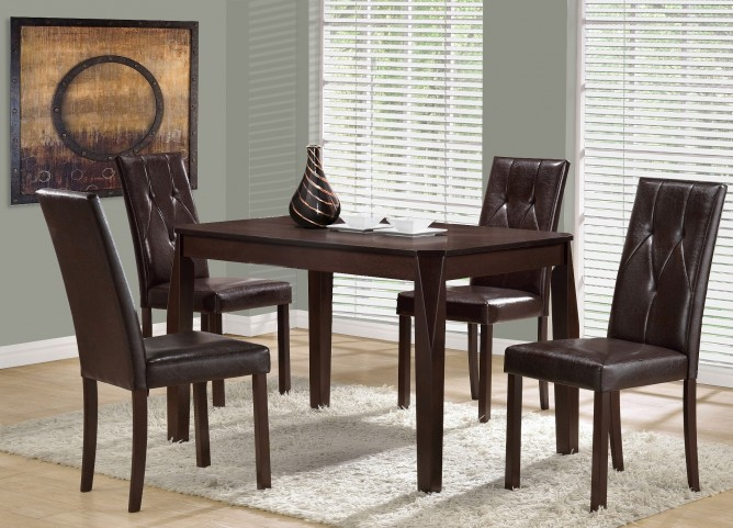 1180 Cappuccino Veneer Dining Room Set