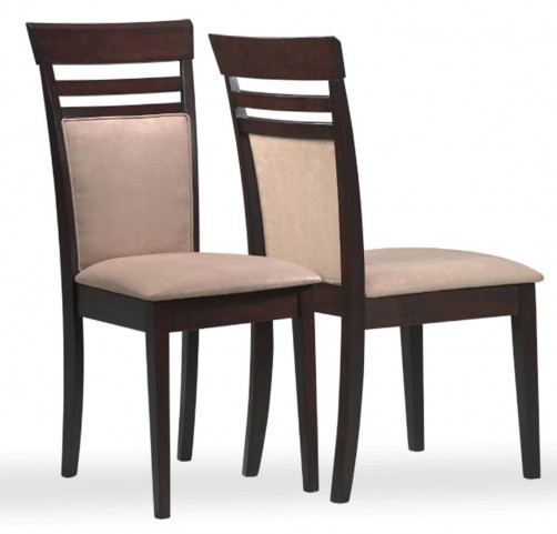 1198 Cappuccino / Peat Microfibre Side Chair Set of 2