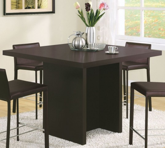 "Cappuccino 48"" Counter Height Dining Table"