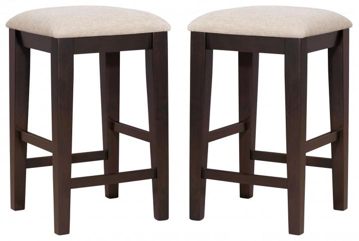 "1360 Cappuccino 24"" Barstools Set of 2"