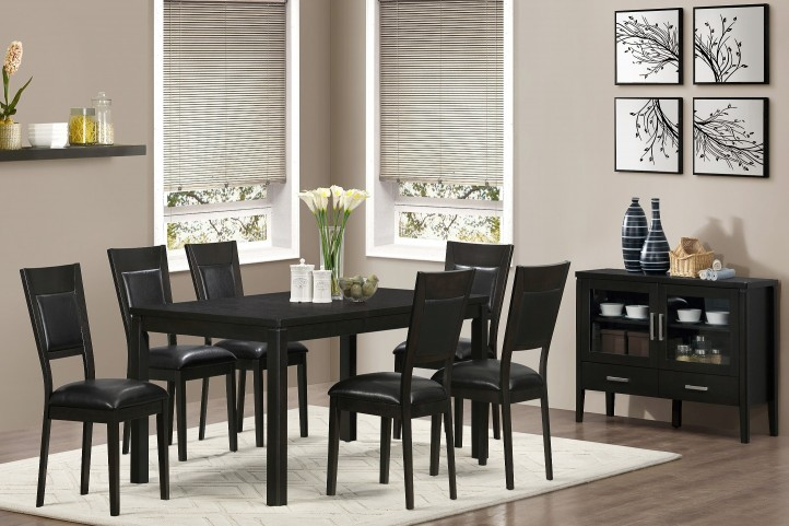 1491 Cappuccino Ash Veneer Extendable Dining Room Set