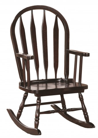 1500 Cappuccino Arrow Back Juvenile Rocking Chair