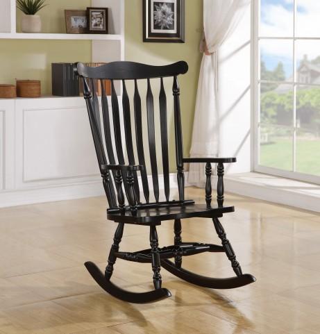 1510 Black Oak Rocking Chair
