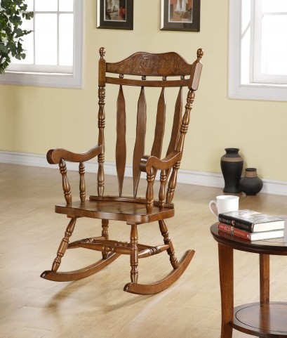 "1515 Dark Walnut 45"" Solid Wood Rocking Chair"