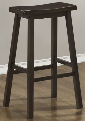 "29"" Saddle Seat Cappuccino Barstools Set of 2"