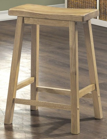 "24"" Saddle Seat Natural Barstools Set of 2"