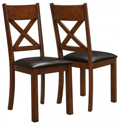 "Walnut/Dark Brown 40"" Dining Chair Set of 2"