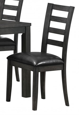 "Charcoal gray/Black 39"" Side Chair Set of 2"