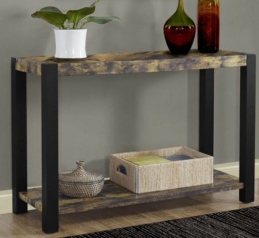 Distressed Black Console Table