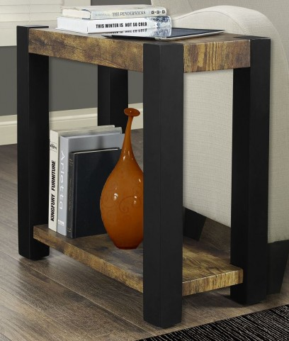 Distressed Black Accent Side Table
