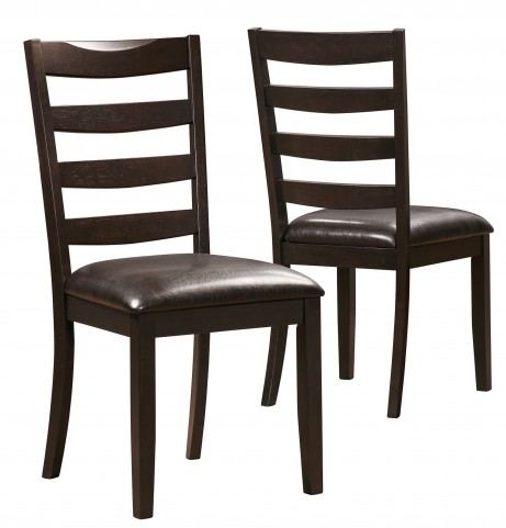 1692 Cappuccino / Brown Side Chair Set of 2