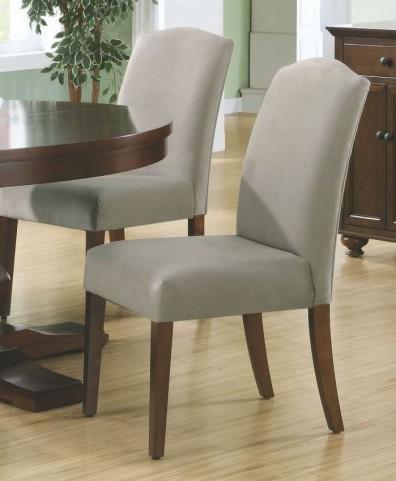 """Beige Velvet 38"""" Dining Chair Set of 2"""