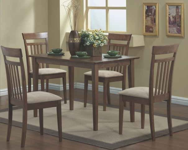 1720 Walnut 5Pcs Dining Set