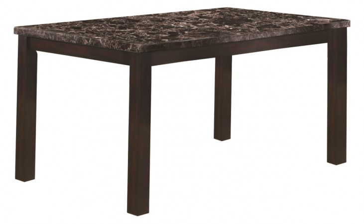 1738 Dark Espresso Marble Dining Table