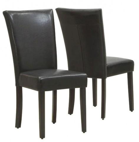 1739BR Dark Brown Side Chair Set of 2