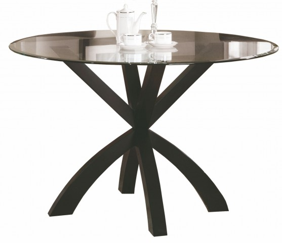 "Dark Espresso 48"" Diameter Spider Base Dining Table"