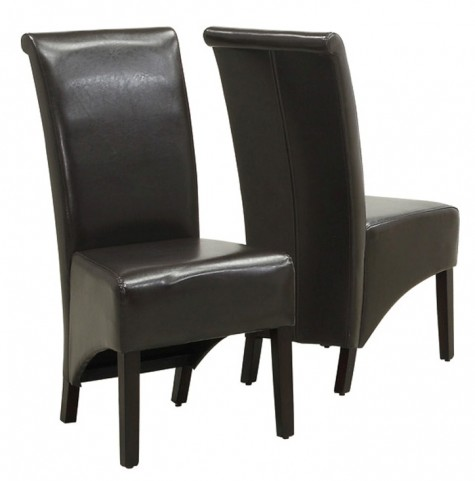 1776BR Dark Brown Side Chair Set of 2