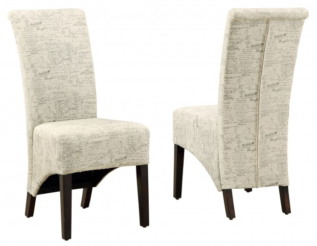 1790FR Vintage French Fabric Side Chair Set of 2