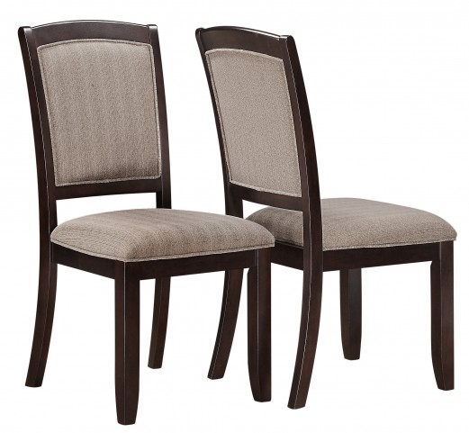1814 Cappuccino Side Chair Set of 2
