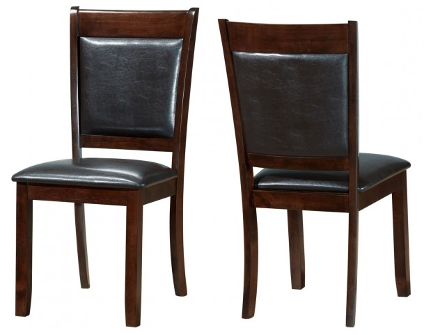1827 Dark Espresso / Brown Side Chair Set of 2