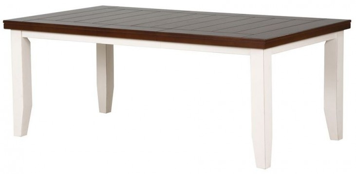 """Antique 78"""" White/Oak Dining Table"""