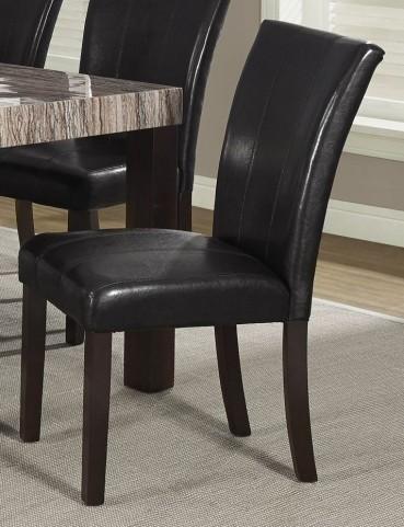 """Dark Rich Brown 38"""" Parson Chair Set of 2"""