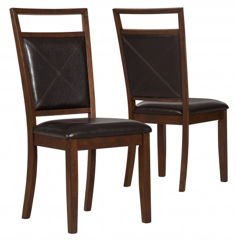 1936 Brown Side Chair Set of 2